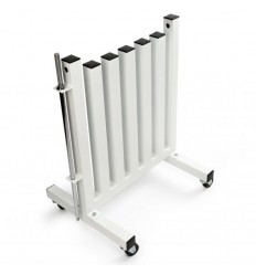 Stojak na hantle fitness BARBARIANLINE R-3005-W na kółkach
