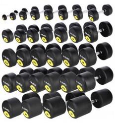 Zestaw gumowanych jednoręcznych hantli IRONLIFE 2,5-30 kg